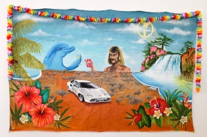 'Psycadelic_Desert_Groove'_acrylic_paint_canvas_hawaiin_flowers_2015_image_credit_Ashton_Papazahariakis